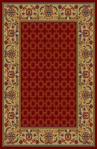 Darla Red/Ivory Area Rug