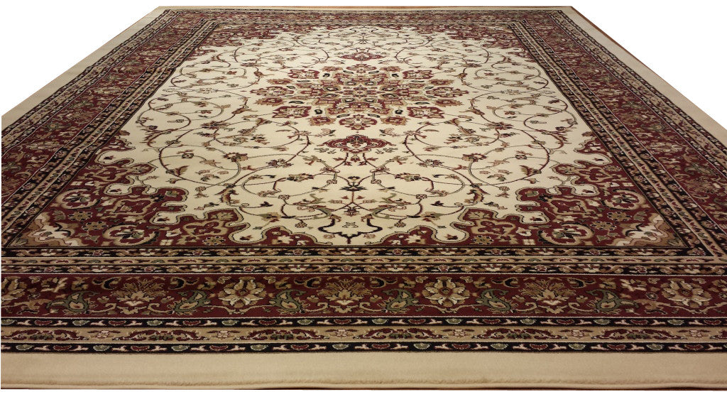 D603 Ivory Area Rug - Rug Tycoon