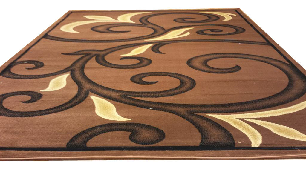 D612 Brown Area Rug - Rug Tycoon