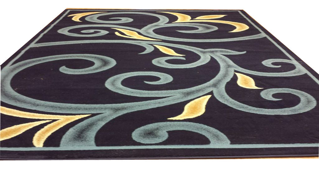 D612 Dark Blue Area Rug - Rug Tycoon