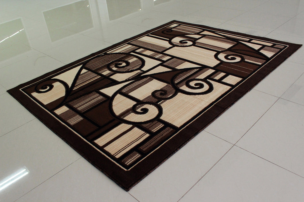 E501 Brown Area Rug - Rug Tycoon