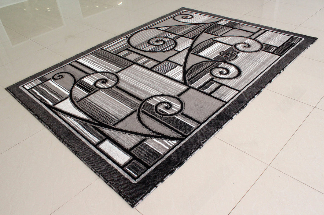 E501 Dark Grey Area Rug - Rug Tycoon