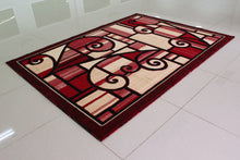 E501 Red Area Rug - Rug Tycoon