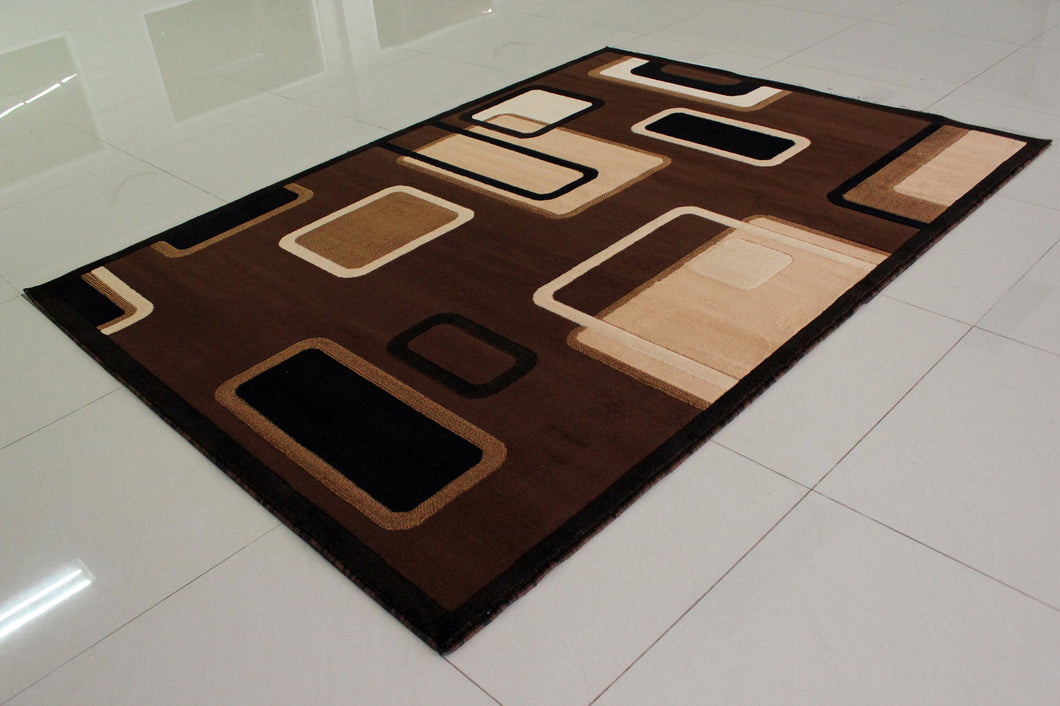 E502 Brown Area Rug - Rug Tycoon