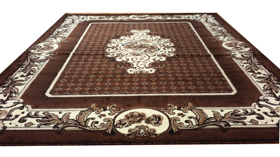 E503 Brown Area Rug - Rug Tycoon