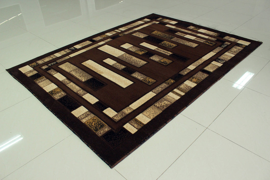 E504 Brown Area Rug - Rug Tycoon
