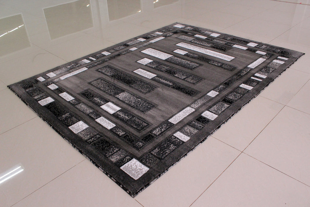 E504 Dark Grey Area Rug - Rug Tycoon