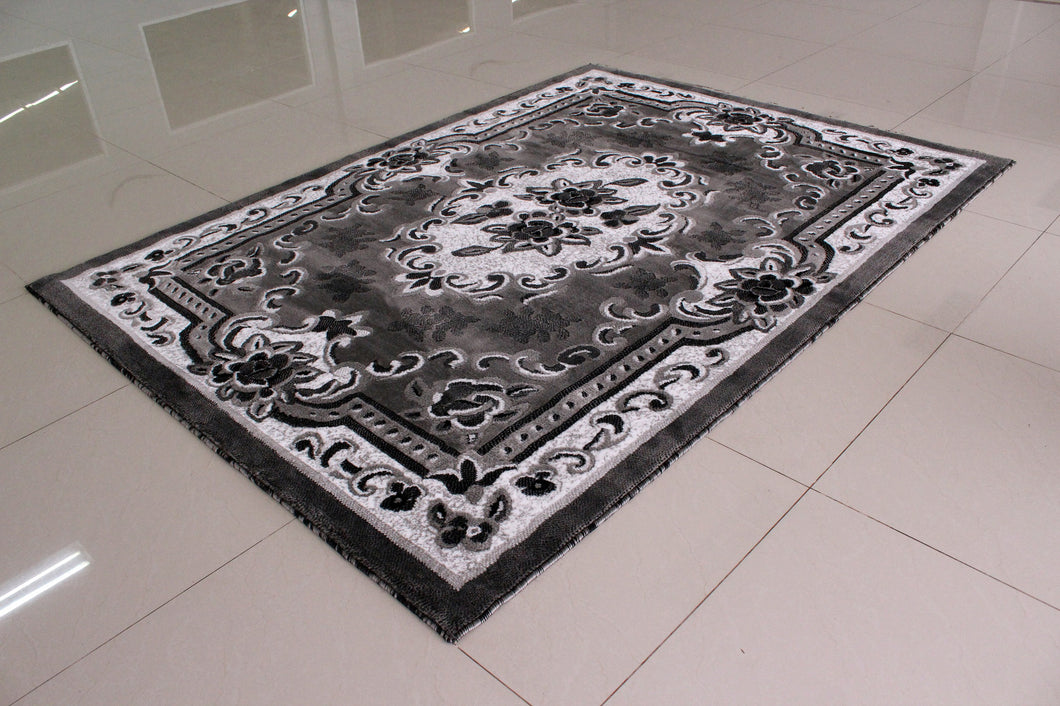 E507 Dark Grey Area Rug - Rug Tycoon