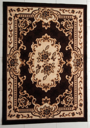E507 Brown Area Rug
