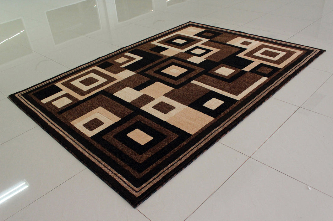 E508 Brown Area Rug - Rug Tycoon