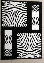 E509 Black Grey Area Rug