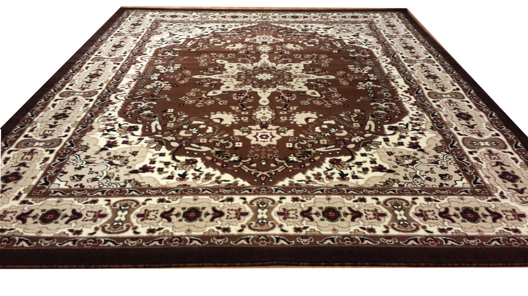 E510 Brown Area Rug - Rug Tycoon