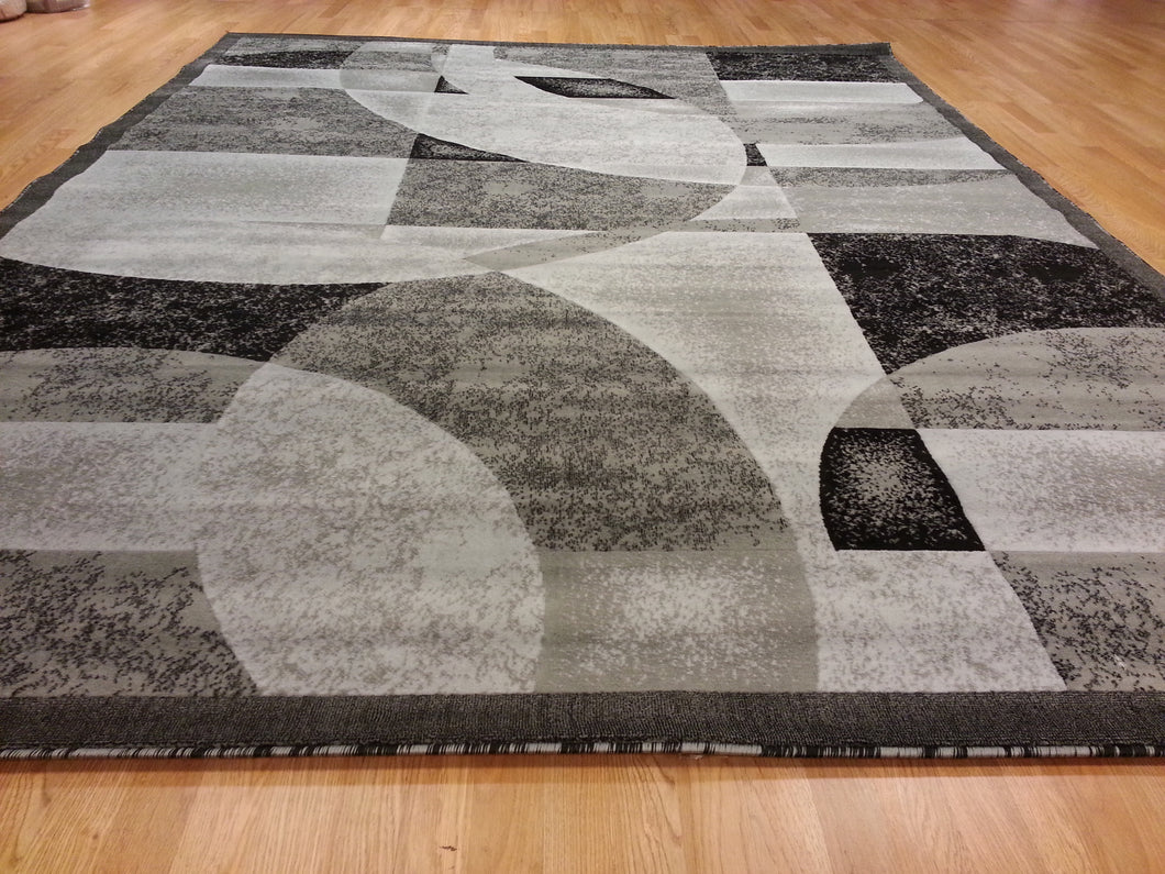 E512 Dark Grey Area Rug - Rug Tycoon