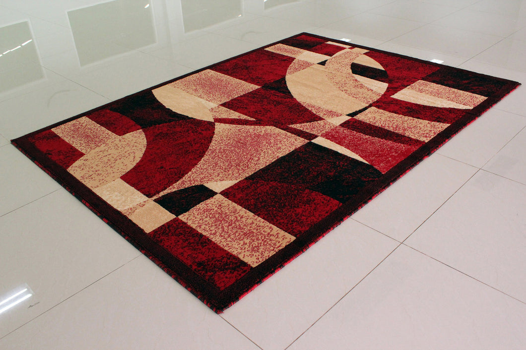 E512 Red Area Rug - Rug Tycoon