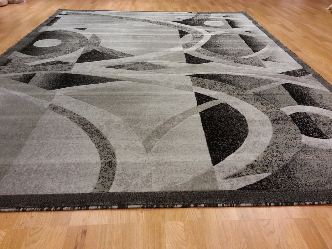 E514 Dark Grey Area Rug - Rug Tycoon