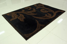 E519 Black Brown Area Rug - Rug Tycoon
