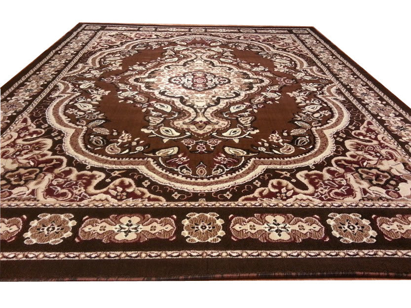 E520 Brown Area Rug - Rug Tycoon