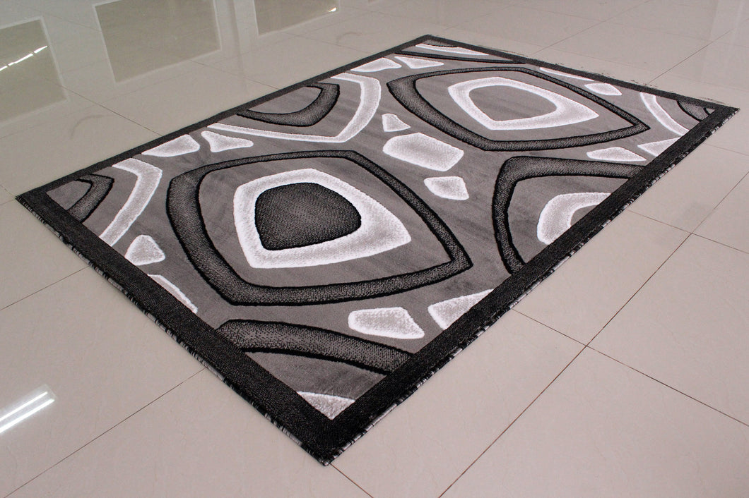 E522 Dark Grey Area Rug - Rug Tycoon