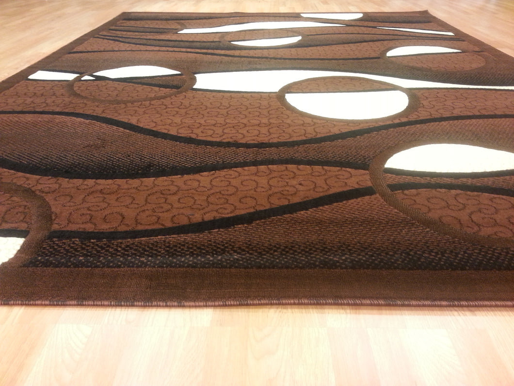 E523 Brown Area Rug - Rug Tycoon