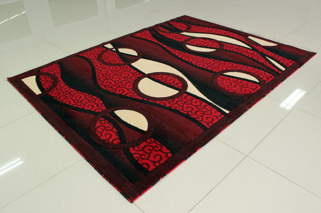 E523 Red Area Rug - Rug Tycoon