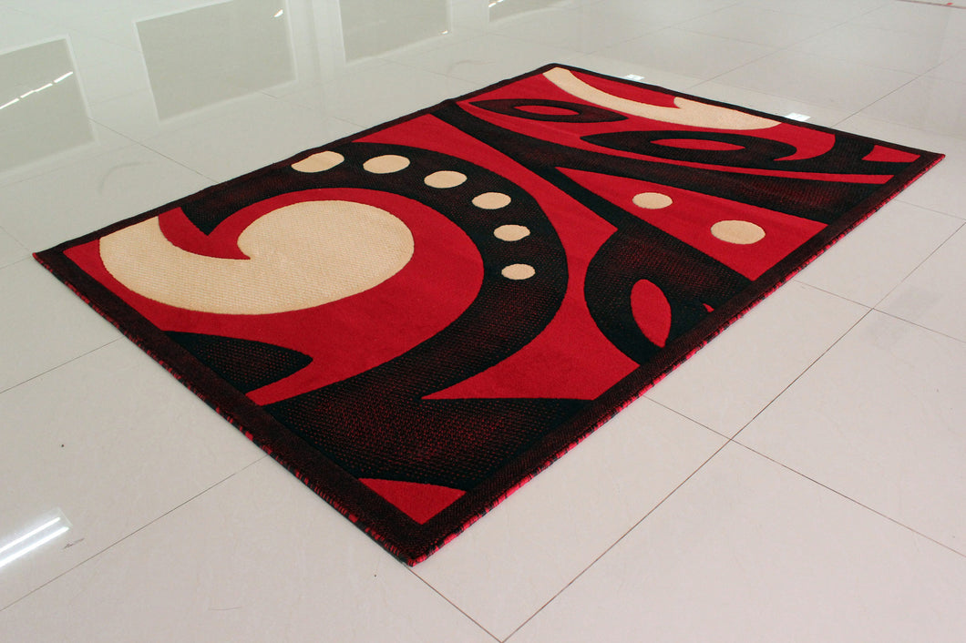 E524 Red Area Rug - Rug Tycoon