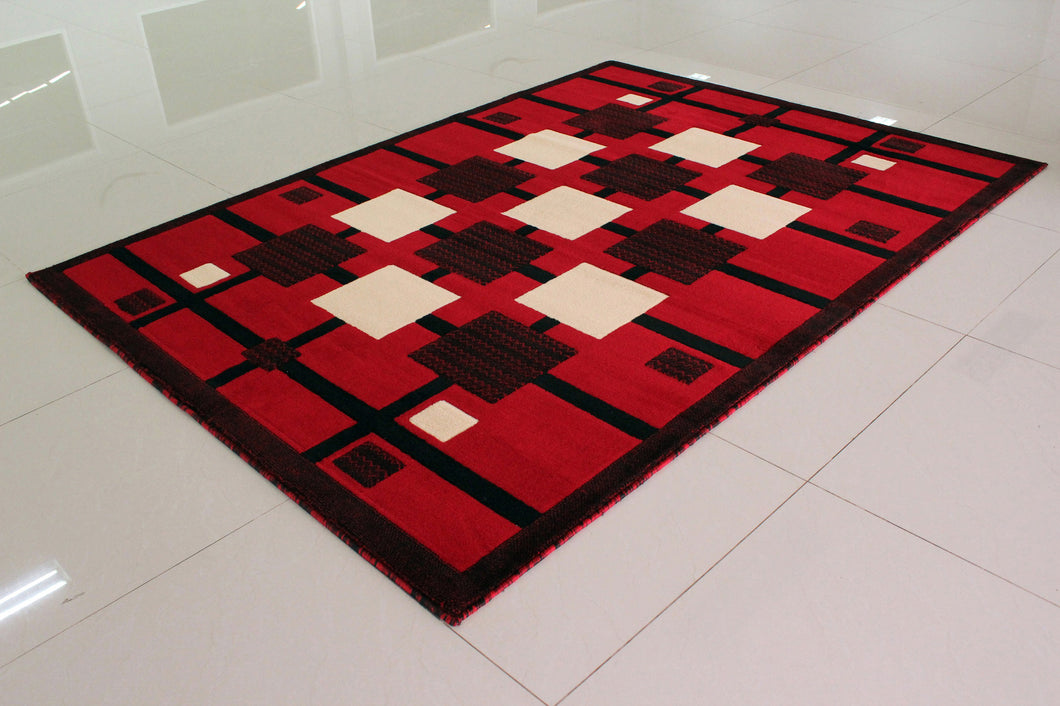 E527 Red Area Rug - Rug Tycoon
