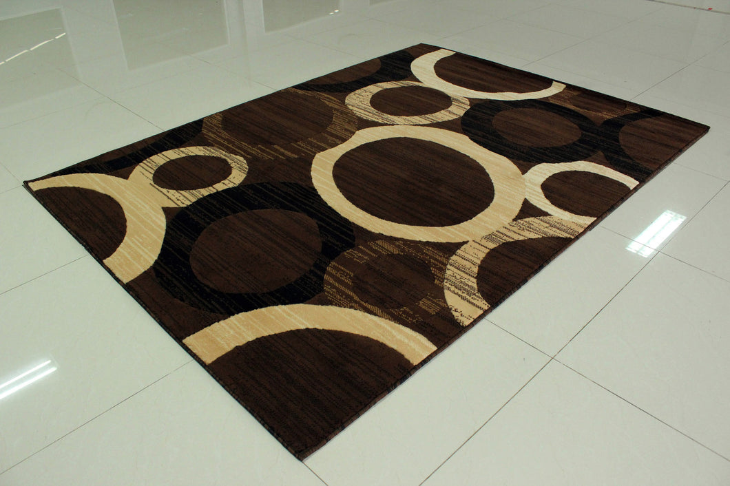 E532 Brown Area Rug - Rug Tycoon