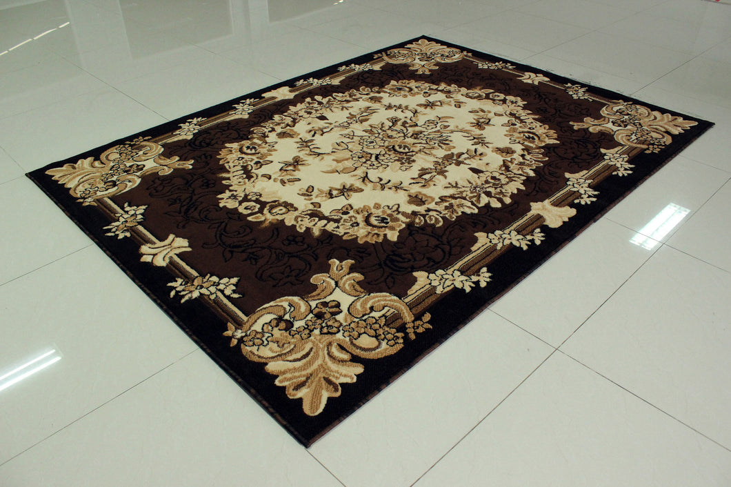 E533 Brown Area Rug - Rug Tycoon