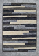 Balke  Gray/Brown/Blue Area Rug - Rug Tycoon