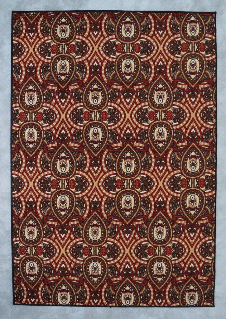Mcelhannon Brown/Red Area Rug