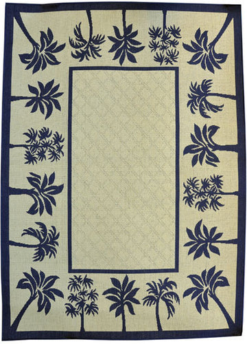 H06 Navy Blue Area Rug - Rug Tycoon