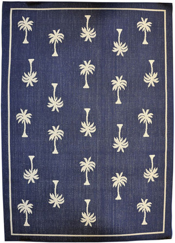 H08 Navy Blue Area Rug - Rug Tycoon