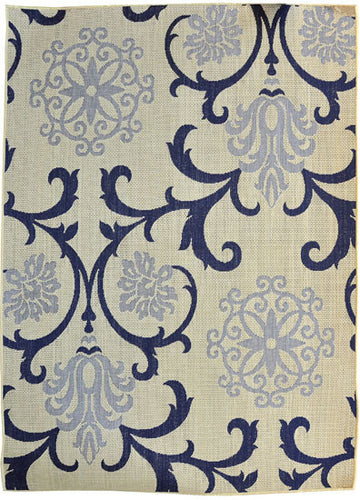 H12 Navy Blue Area Rug - Rug Tycoon