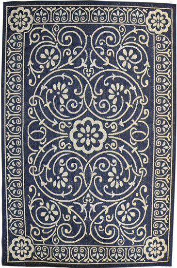 H14 Navy Blue Area Rug - Rug Tycoon