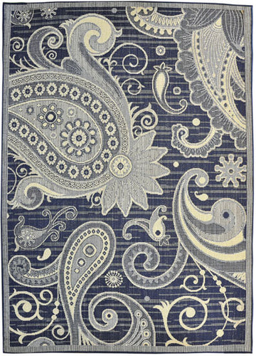 H16 Navy Blue Area Rug - Rug Tycoon