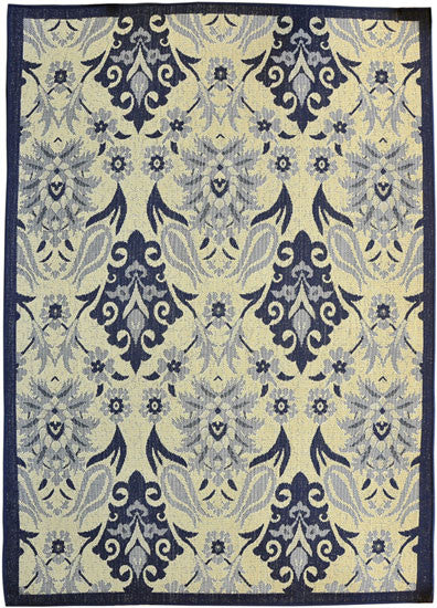 H18 Navy Blue Area Rug - Rug Tycoon