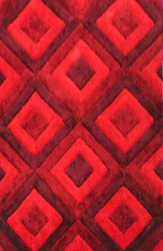 IS7 Red Area Rug - Rug Tycoon