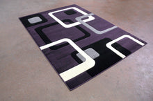 J707 Purple Black Area Rug - Rug Tycoon