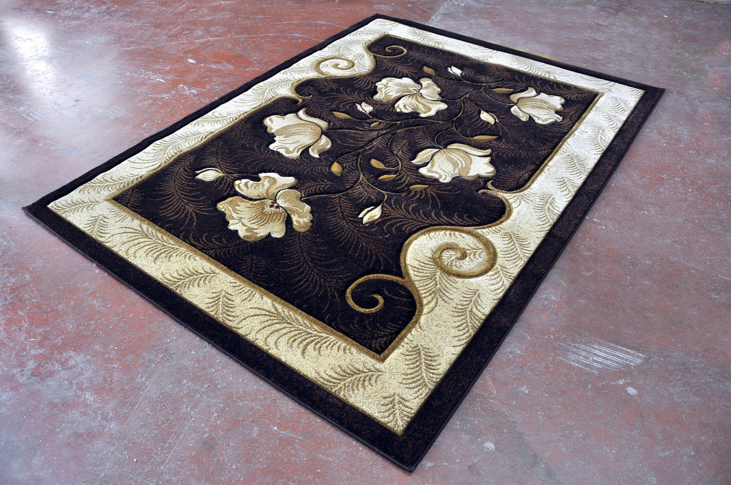 J710 Brown Area Rug - Rug Tycoon