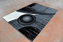 J718Antracite Black Area Rug - Rug Tycoon