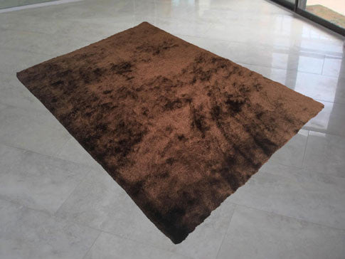 LX Soli Dark Brown Area Rug - Rug Tycoon
