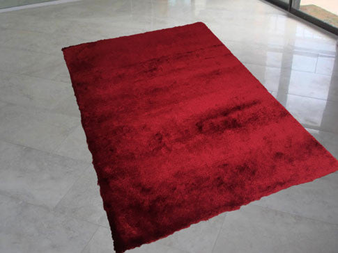 LX Soli Dark Red Area Rug - Rug Tycoon
