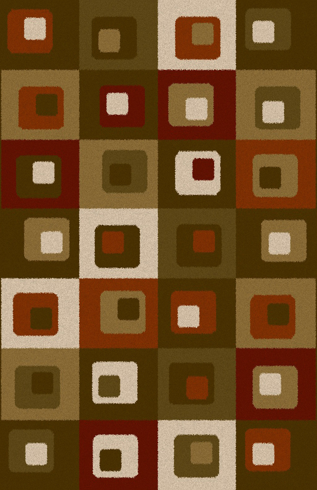 Justen Brown/Green Area Rug