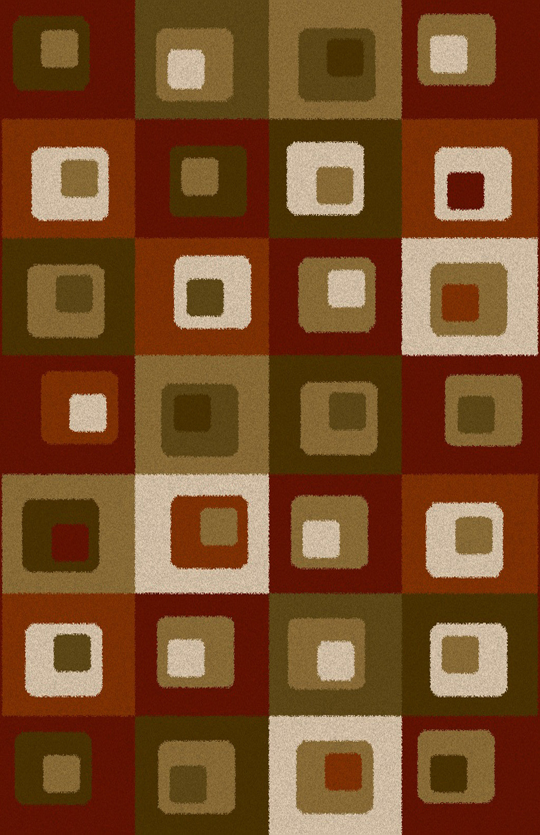 Dirk Burgundy/Green Area Rug