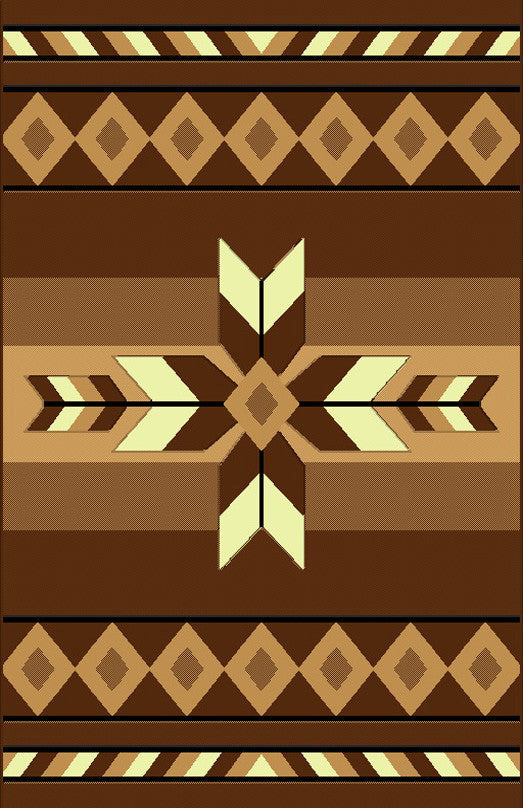 NS2 Brown Area Rug - Rug Tycoon