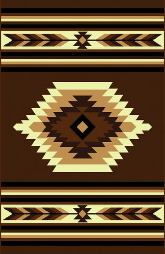 NS3 Brown Area Rug - Rug Tycoon