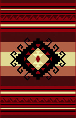 NS4 Red Area Rug - Rug Tycoon