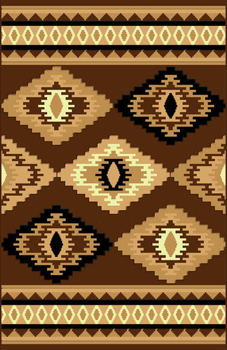 NS6 Brown Area Rug - Rug Tycoon