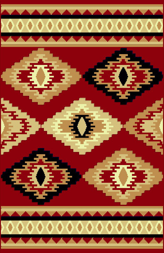 NS6 Red Area Rug - Rug Tycoon
