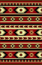 NS7 Red Area Rug - Rug Tycoon